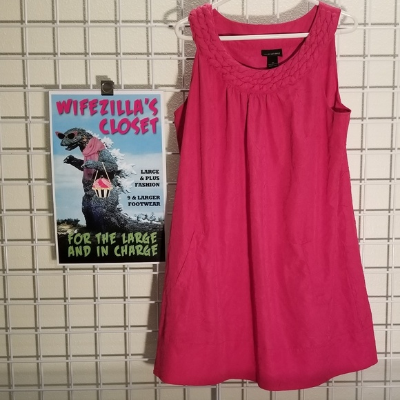 Lane Bryant Dresses & Skirts - Lane Bryant Size 20 Pink Dress with Pockets